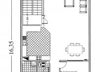 پلان ساختمان مسکونی ۳ طبقه