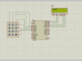 کدنویسی نوشتن اعداد روی LCD توسط کی پد در محیط پروتئوس و زبان C در محیط کدویژن