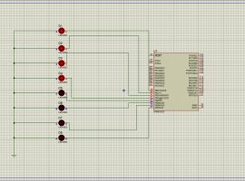 کدنویسی LEDهای چشمک زن در محیط پروتئوس با زبان C در کدویژن