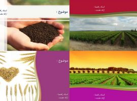 چهار قالب پاورپوینت مهندسی کشاورزی