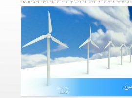 قالب پاورپوینت آماده انرژی تجدیدپذیر بادی