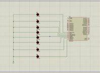 کدنویسی LEDهای چشمک زن در پروتئوس با زبان C در محیط کدویژن
