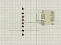 کدنویسی LEDهای چشمک زن در پروتئوس با زبان C در کدویژن